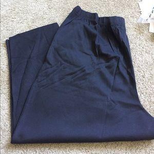 Black Elastic Waist Pants